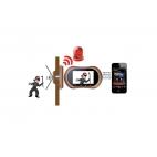 Digitální dveřní kukátko a alarm ZX-N500